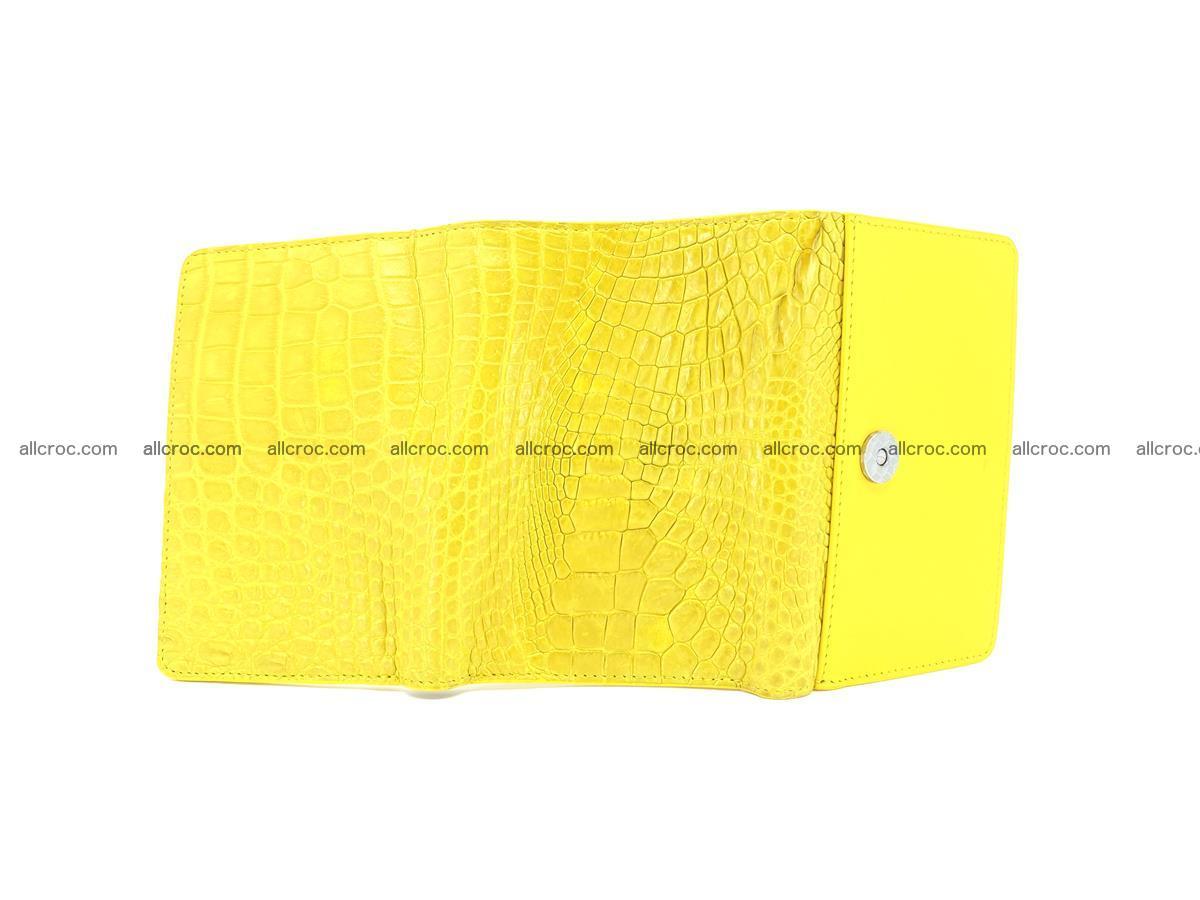 Genuine Siamese crocodile skin wallet for women 410 Foto 6
