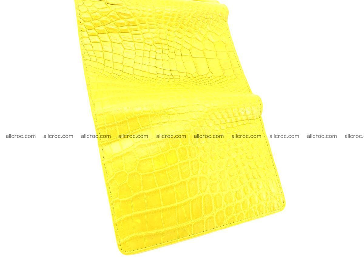 Genuine Siamese crocodile skin wallet for women 410 Foto 7