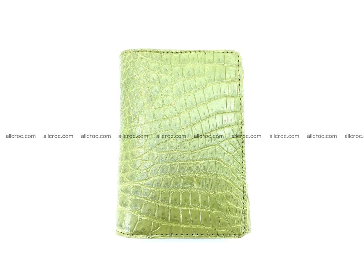 Genuine Siamese crocodile skin wallet for women 409 Foto 4