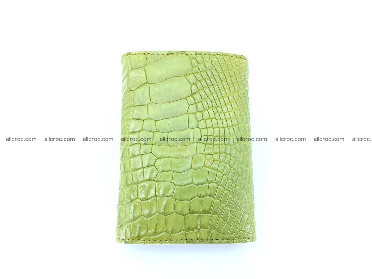 Genuine Siamese crocodile skin wallet for women 409 Foto 5