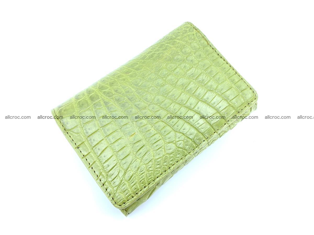 Genuine Siamese crocodile skin wallet for women 409 Foto 2