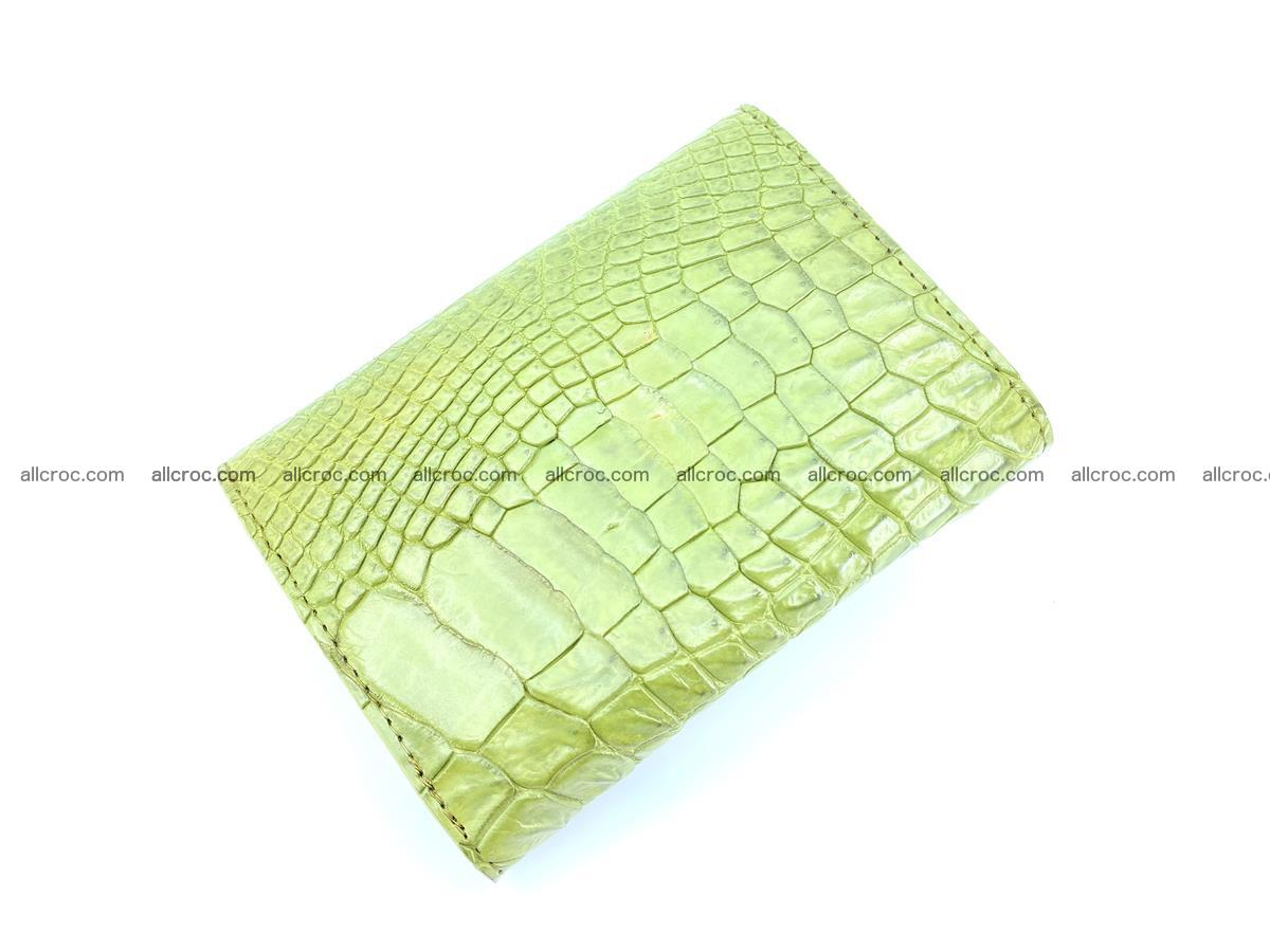 Genuine Siamese crocodile skin wallet for women 409 Foto 3