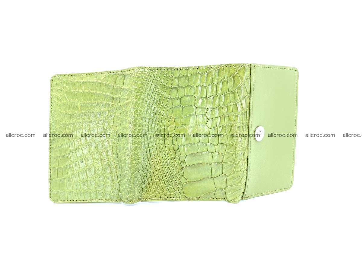 Genuine Siamese crocodile skin wallet for women 409 Foto 8