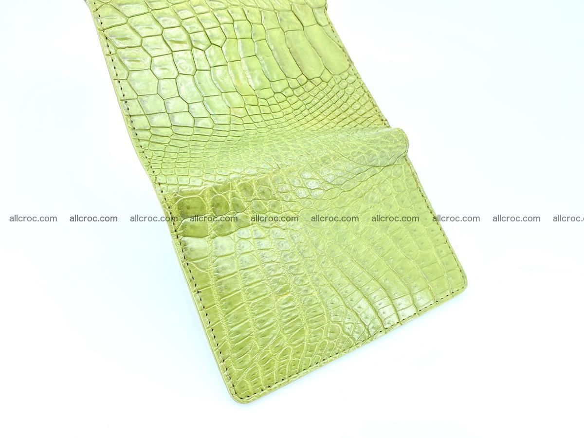 Genuine Siamese crocodile skin wallet for women 409 Foto 7
