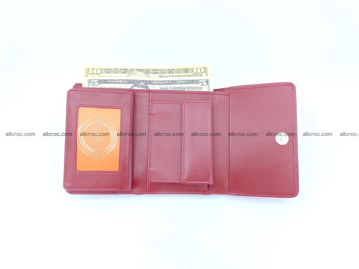 Genuine Siamese crocodile skin wallet for women 408 Foto 8