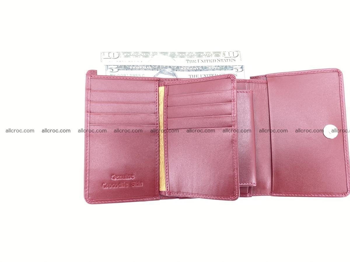 Genuine Siamese crocodile skin wallet for women 408 Foto 9