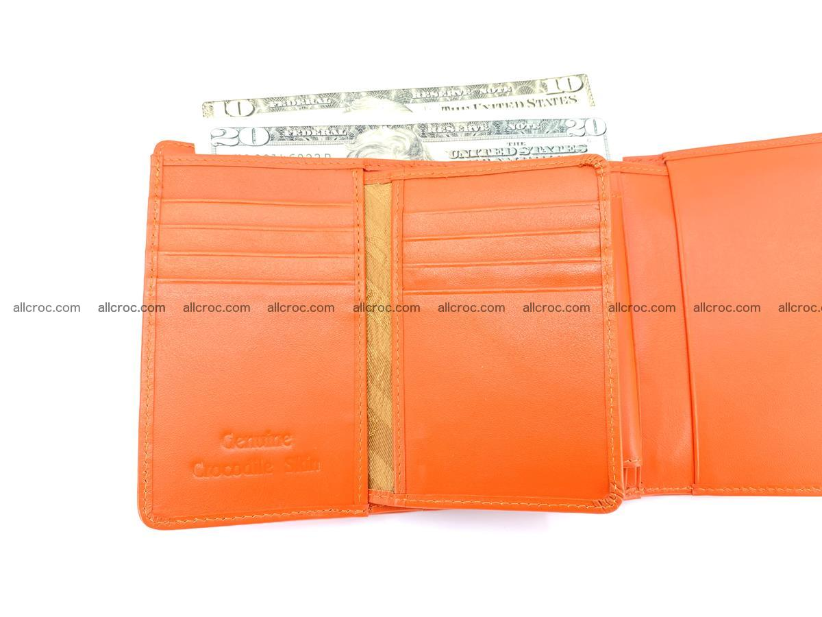 Genuine Siamese crocodile skin wallet for women 411 Foto 9