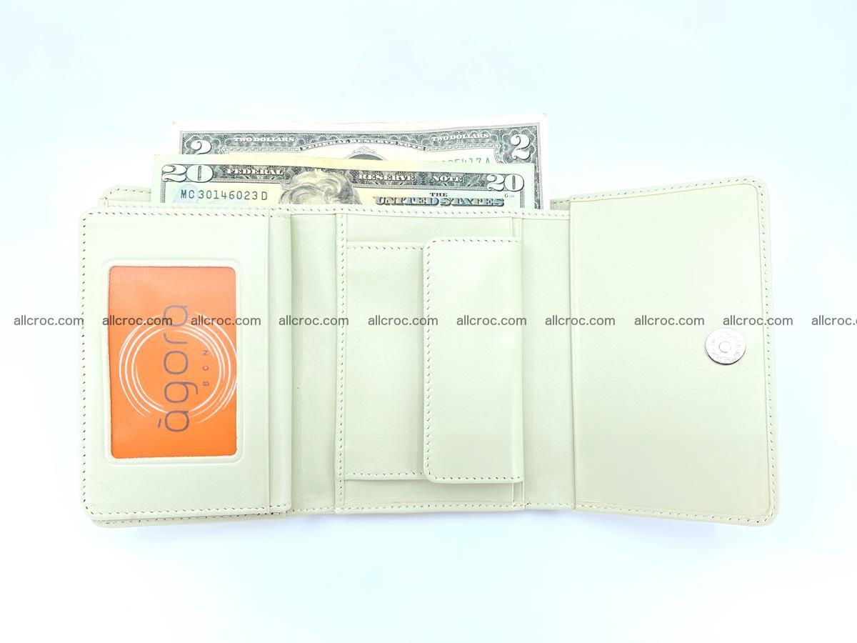 Genuine Siamese crocodile skin wallet for women 412 Foto 9