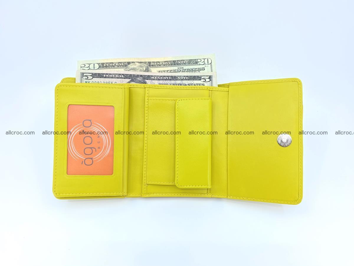 Genuine Siamese crocodile skin wallet for women 410 Foto 8
