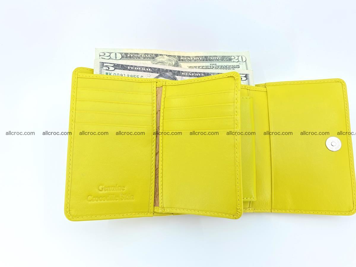 Genuine Siamese crocodile skin wallet for women 410 Foto 9