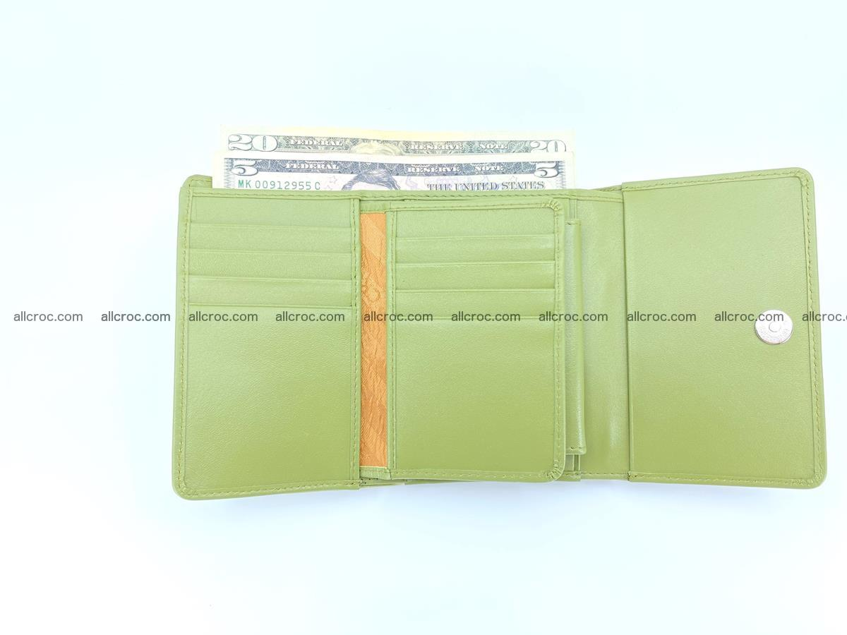 Genuine Siamese crocodile skin wallet for women 409 Foto 10