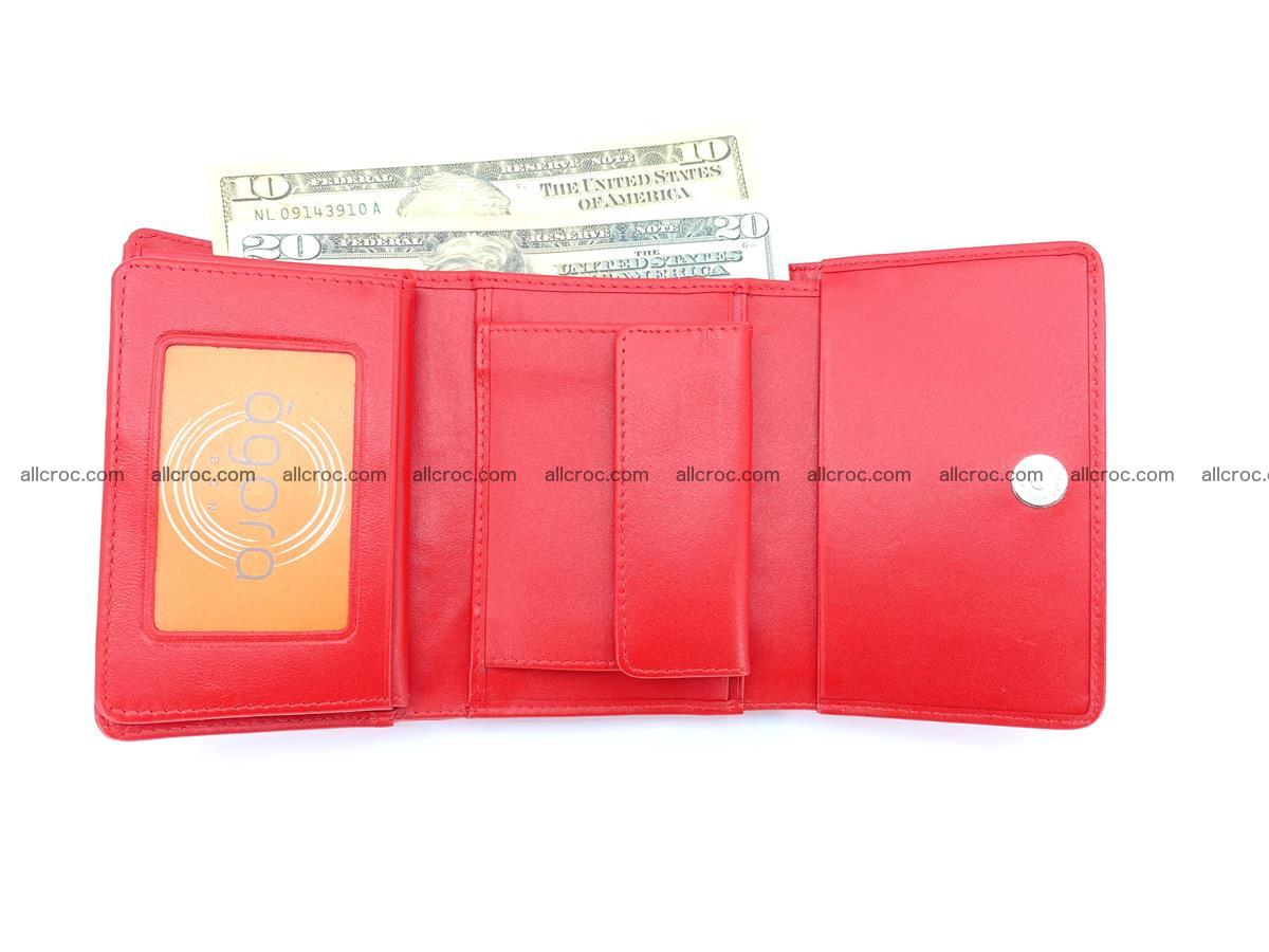 Genuine Siamese crocodile skin wallet for women 418 Foto 8