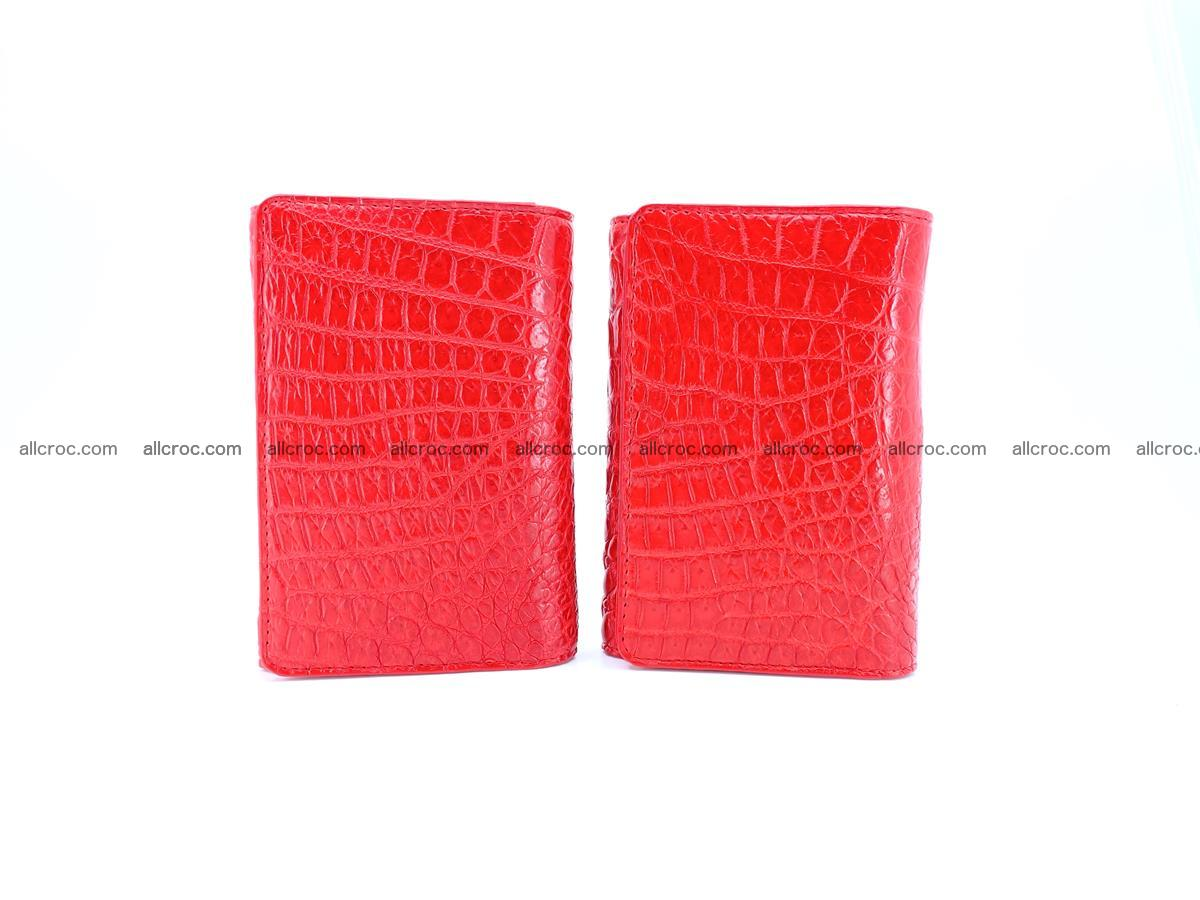 Genuine Siamese crocodile skin wallet for women 418 Foto 10