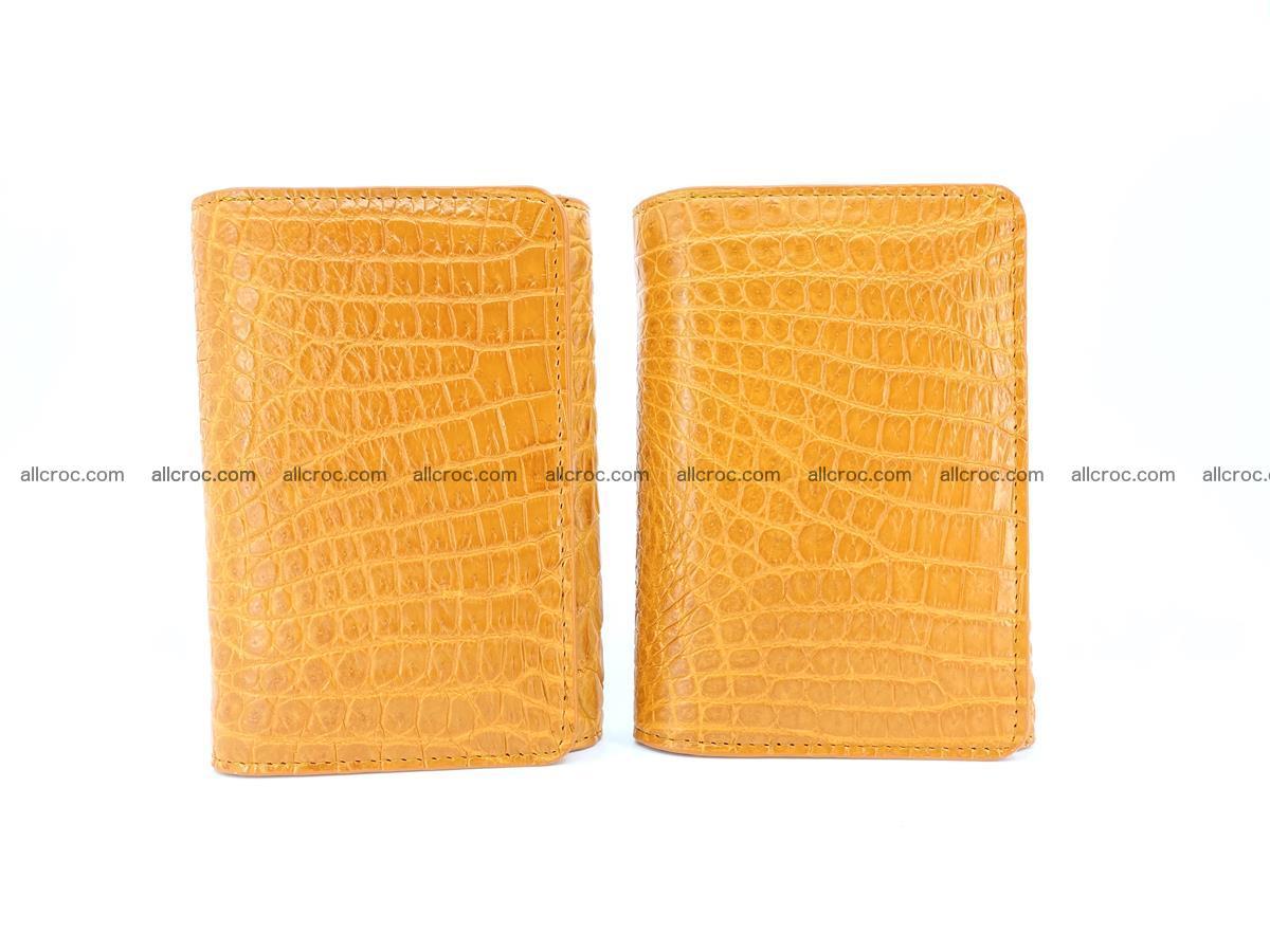 Genuine Siamese crocodile skin wallet for women 413 Foto 10