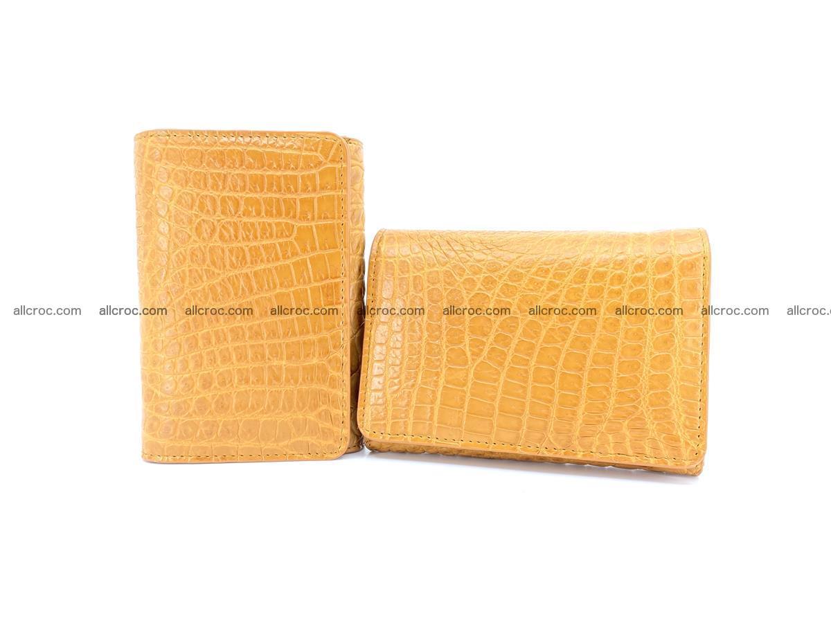 Genuine Siamese crocodile skin wallet for women 413 Foto 11