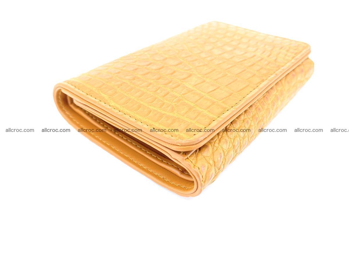 Genuine Siamese crocodile skin wallet for women 413 Foto 4
