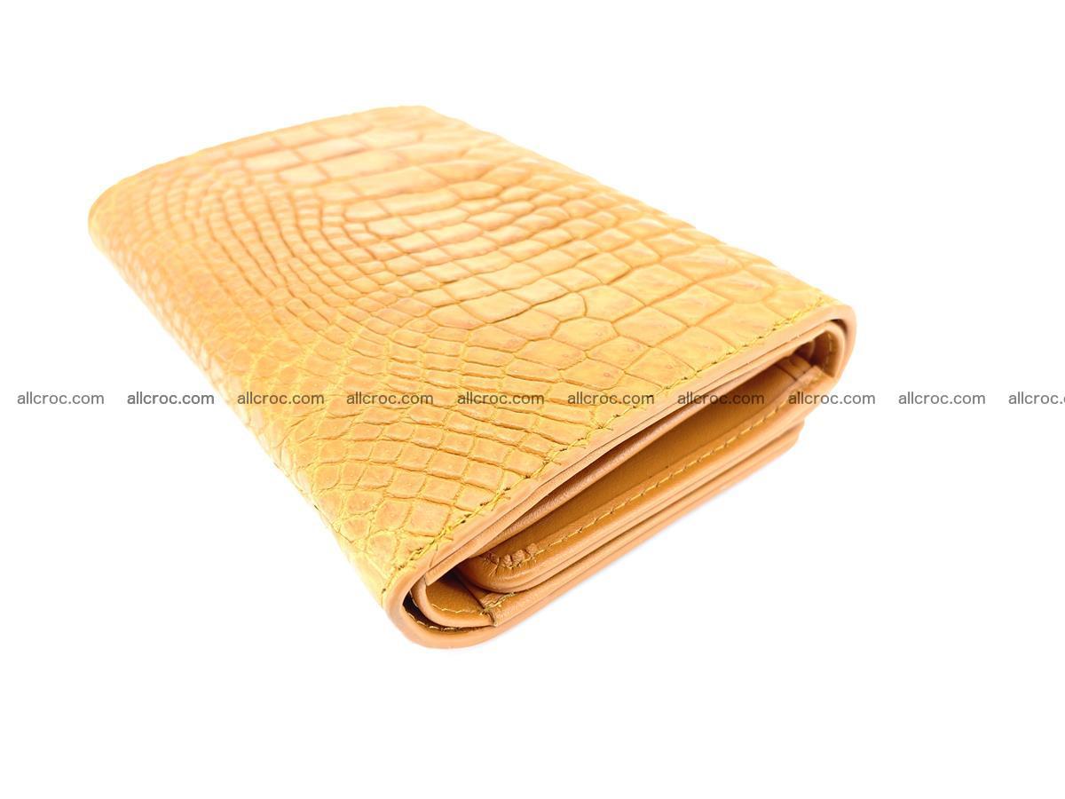 Genuine Siamese crocodile skin wallet for women 413 Foto 5