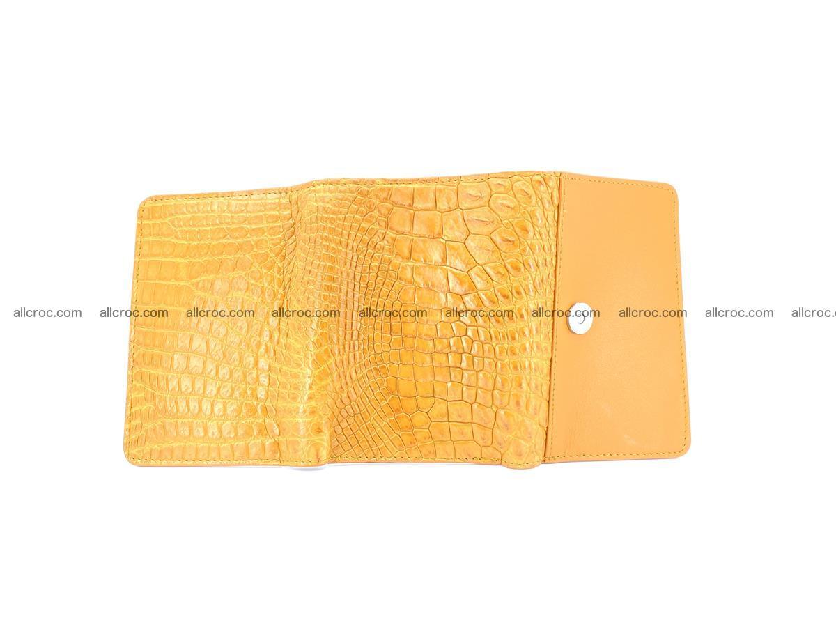 Genuine Siamese crocodile skin wallet for women 413 Foto 8