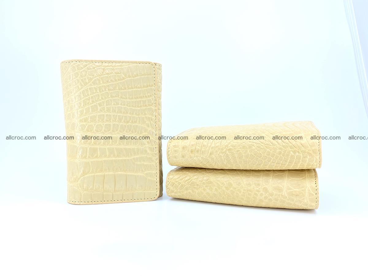 Genuine Siamese crocodile skin wallet for women 415 Foto 10