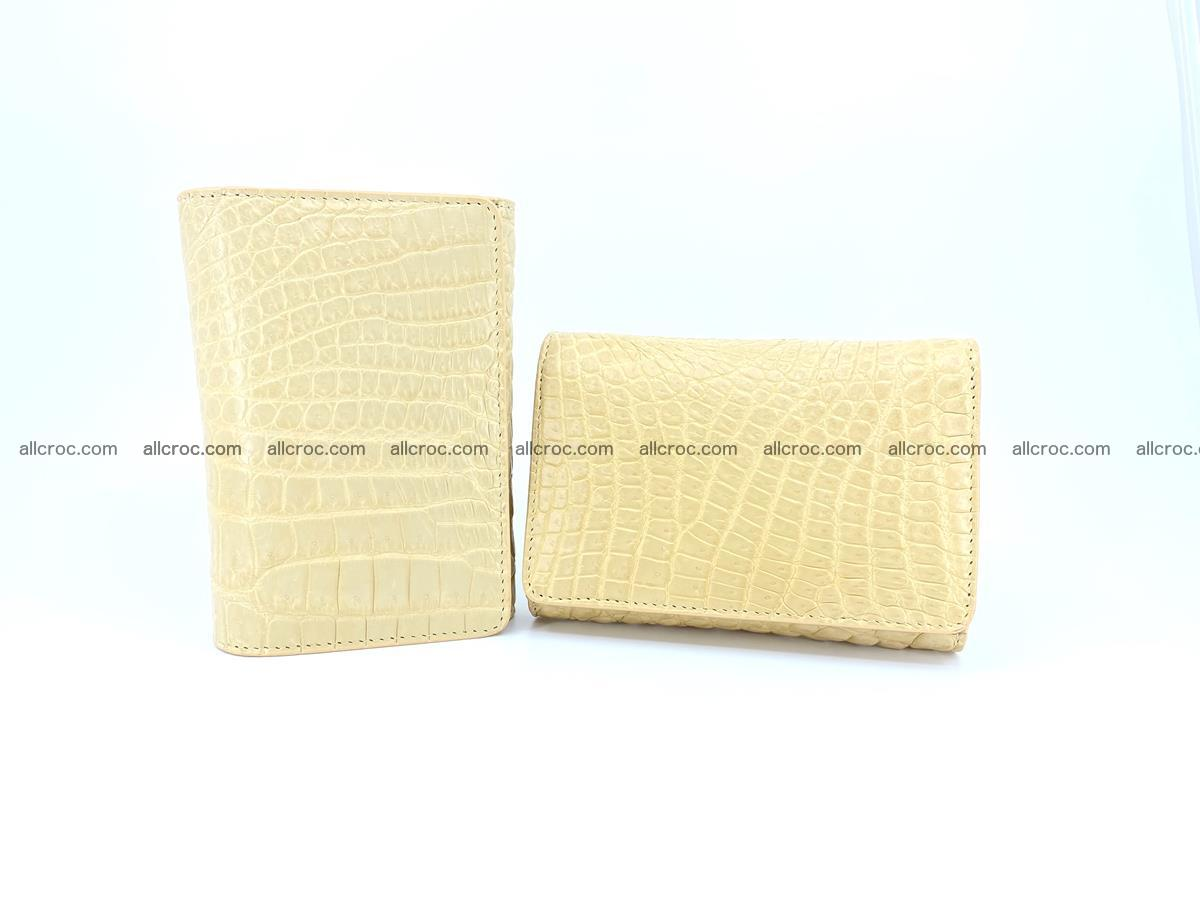 Genuine Siamese crocodile skin wallet for women 415 Foto 12