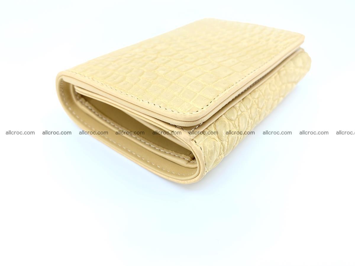 Genuine Siamese crocodile skin wallet for women 415 Foto 4