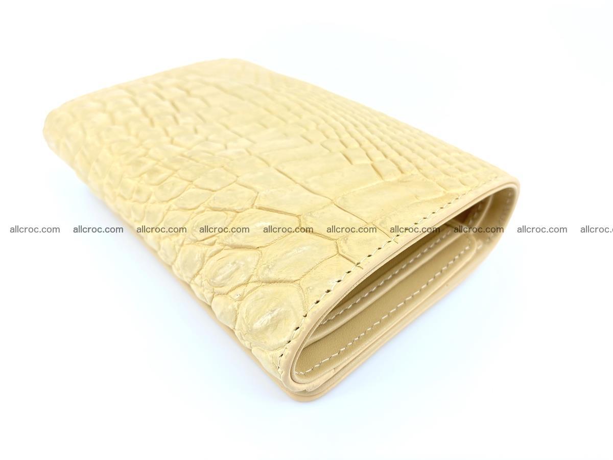 Genuine Siamese crocodile skin wallet for women 415 Foto 5