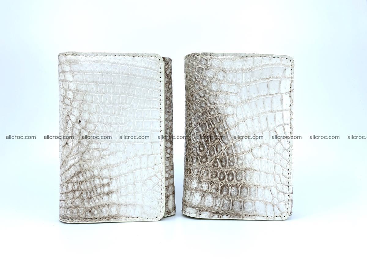Genuine Siamese crocodile skin wallet for women 412 Foto 10