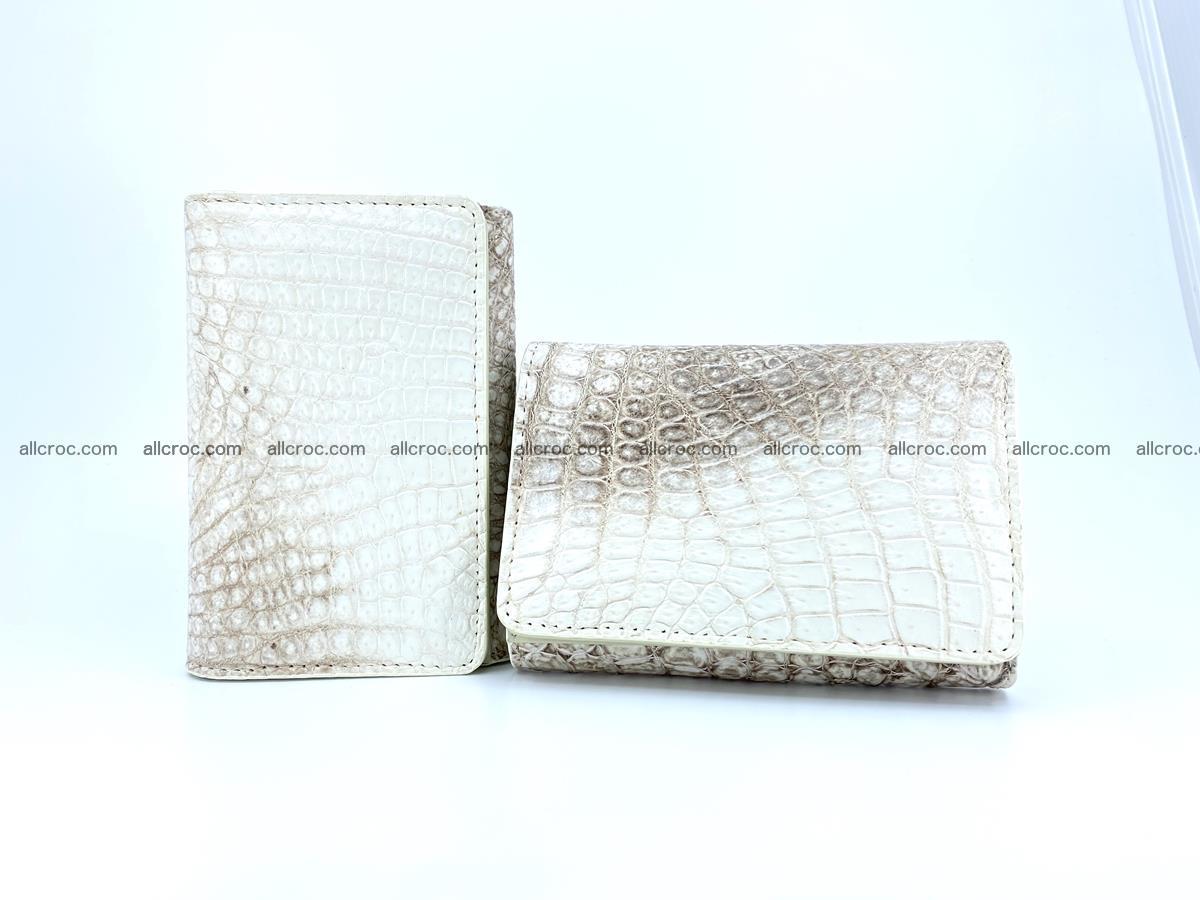 Genuine Siamese crocodile skin wallet for women 412 Foto 11