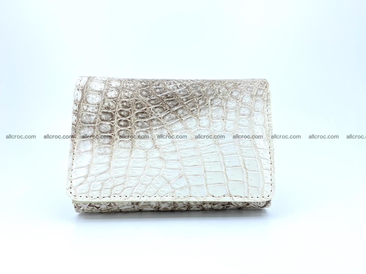 Genuine Siamese crocodile skin wallet for women 412 Foto 0