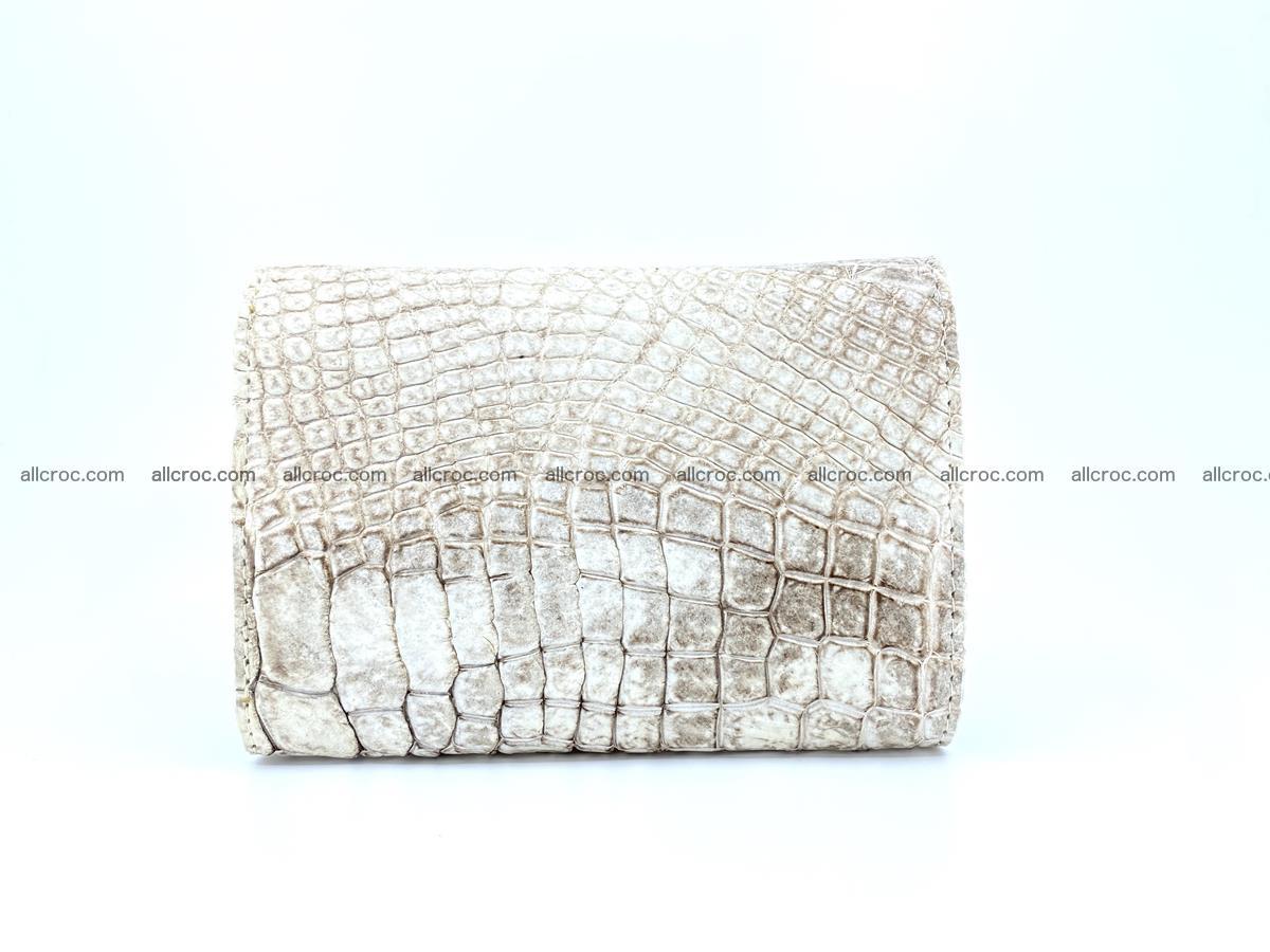Genuine Siamese crocodile skin wallet for women 412 Foto 1
