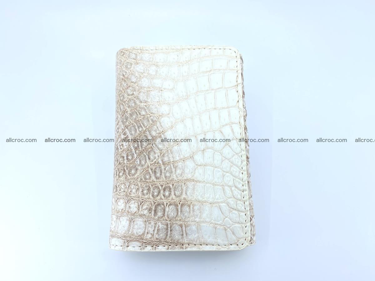 Genuine Siamese crocodile skin wallet for women 412 Foto 2