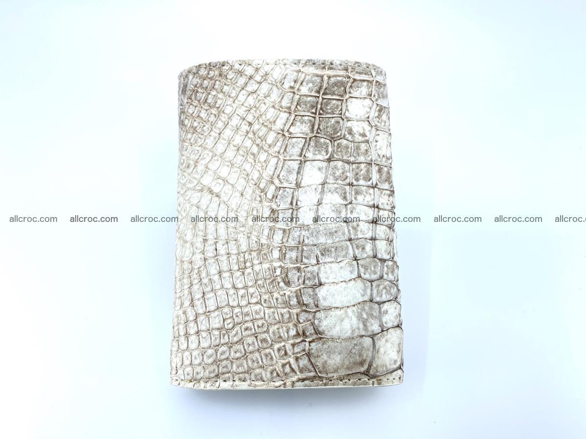 Genuine Siamese crocodile skin wallet for women 412 Foto 3