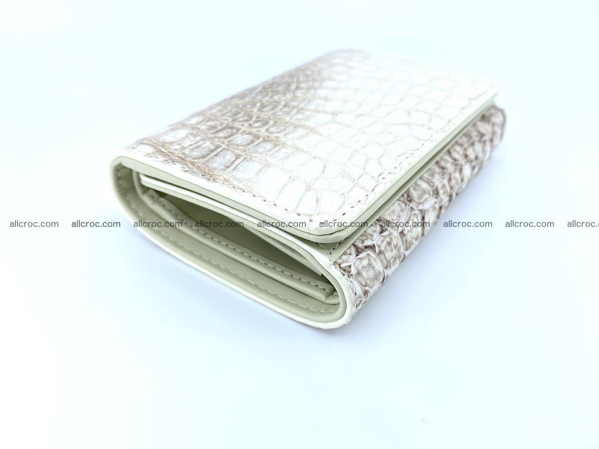 Genuine Siamese crocodile skin wallet for women 412 Foto 4