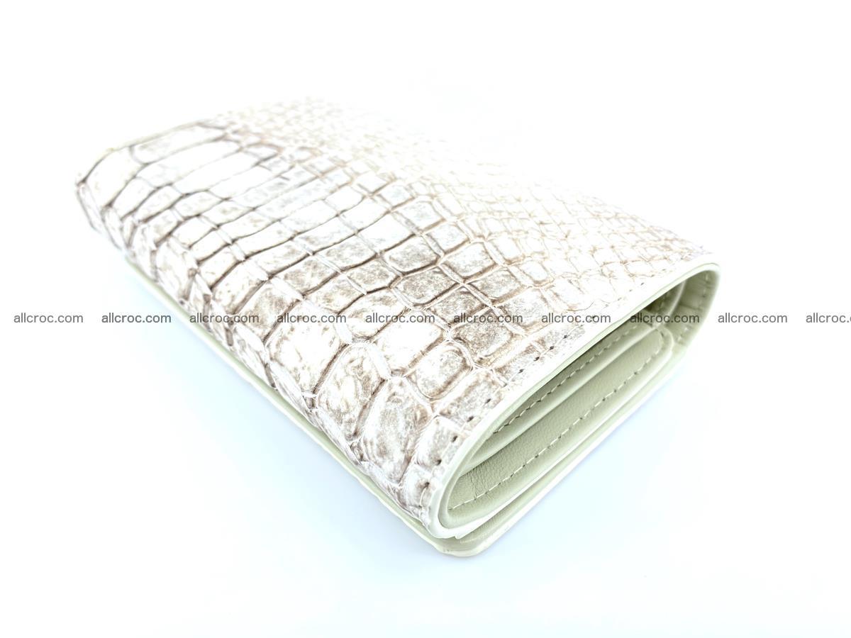 Genuine Siamese crocodile skin wallet for women 412 Foto 5
