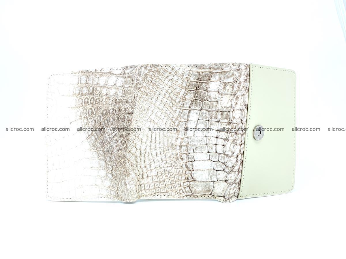 Genuine Siamese crocodile skin wallet for women 412 Foto 6