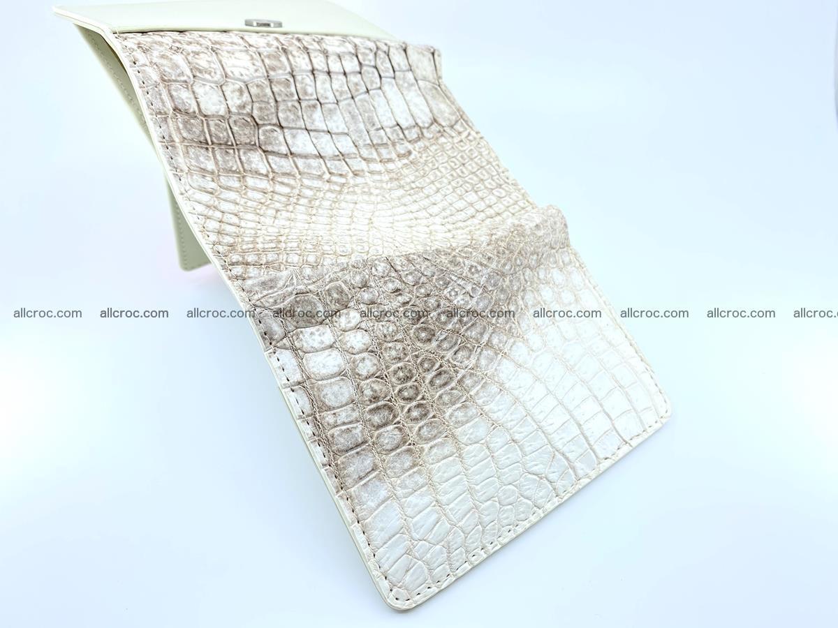 Genuine Siamese crocodile skin wallet for women 412 Foto 7
