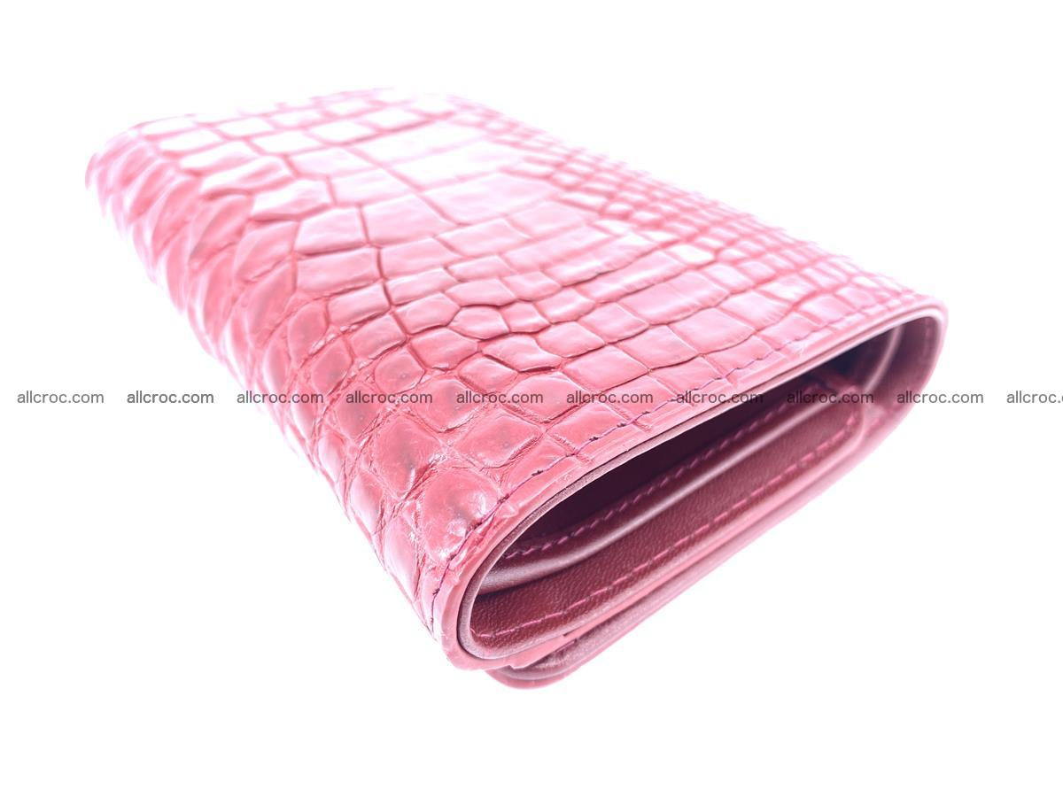 Genuine Siamese crocodile skin wallet for women 408 Foto 5