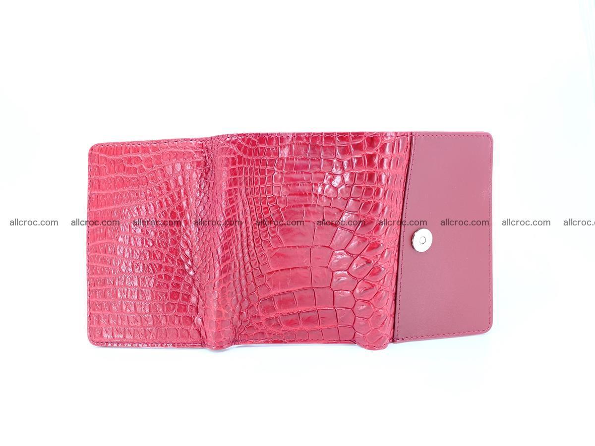 Genuine Siamese crocodile skin wallet for women 408 Foto 6