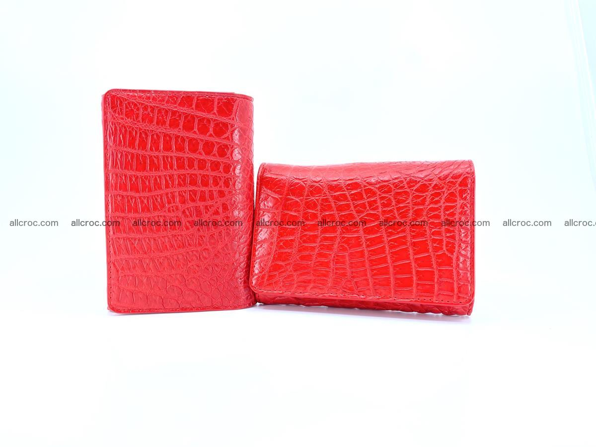 Genuine Siamese crocodile skin wallet for women 418 Foto 11