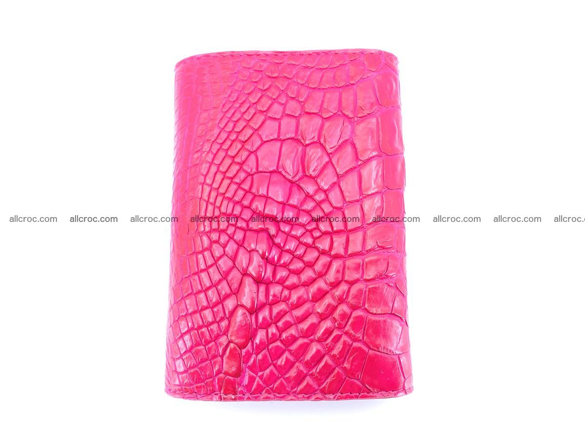 Genuine Siamese crocodile skin wallet for women 407 Foto 3