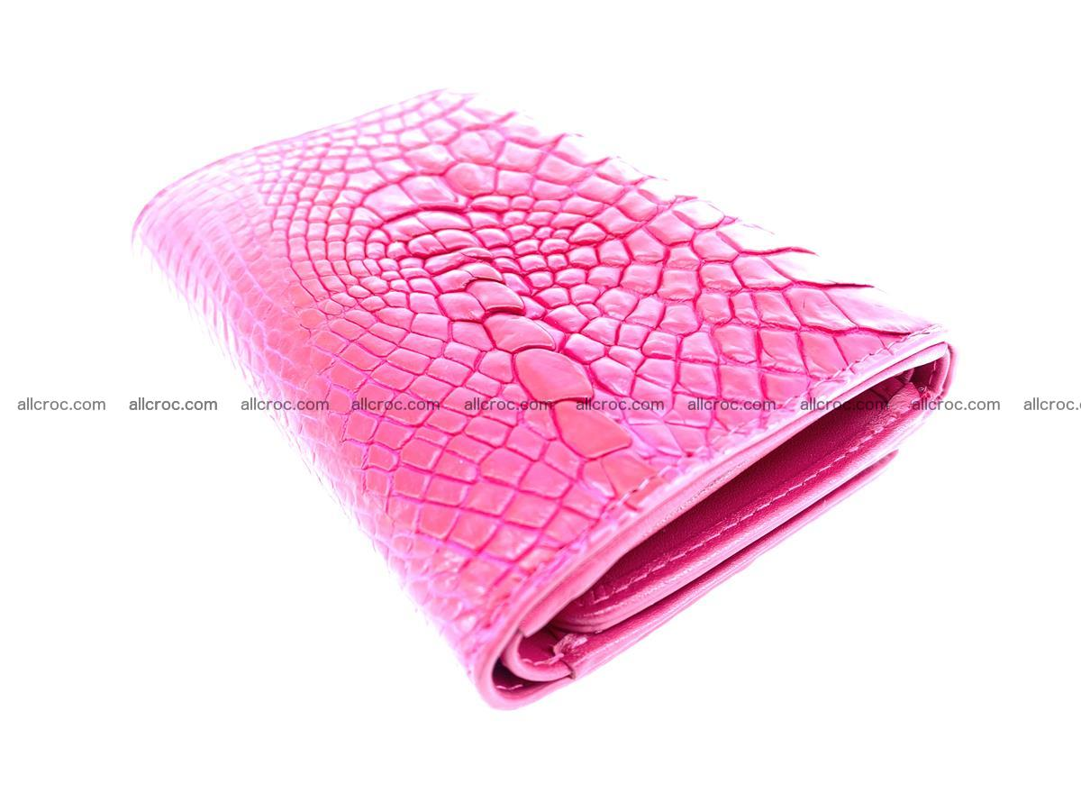 Genuine Siamese crocodile skin wallet for women 407 Foto 5