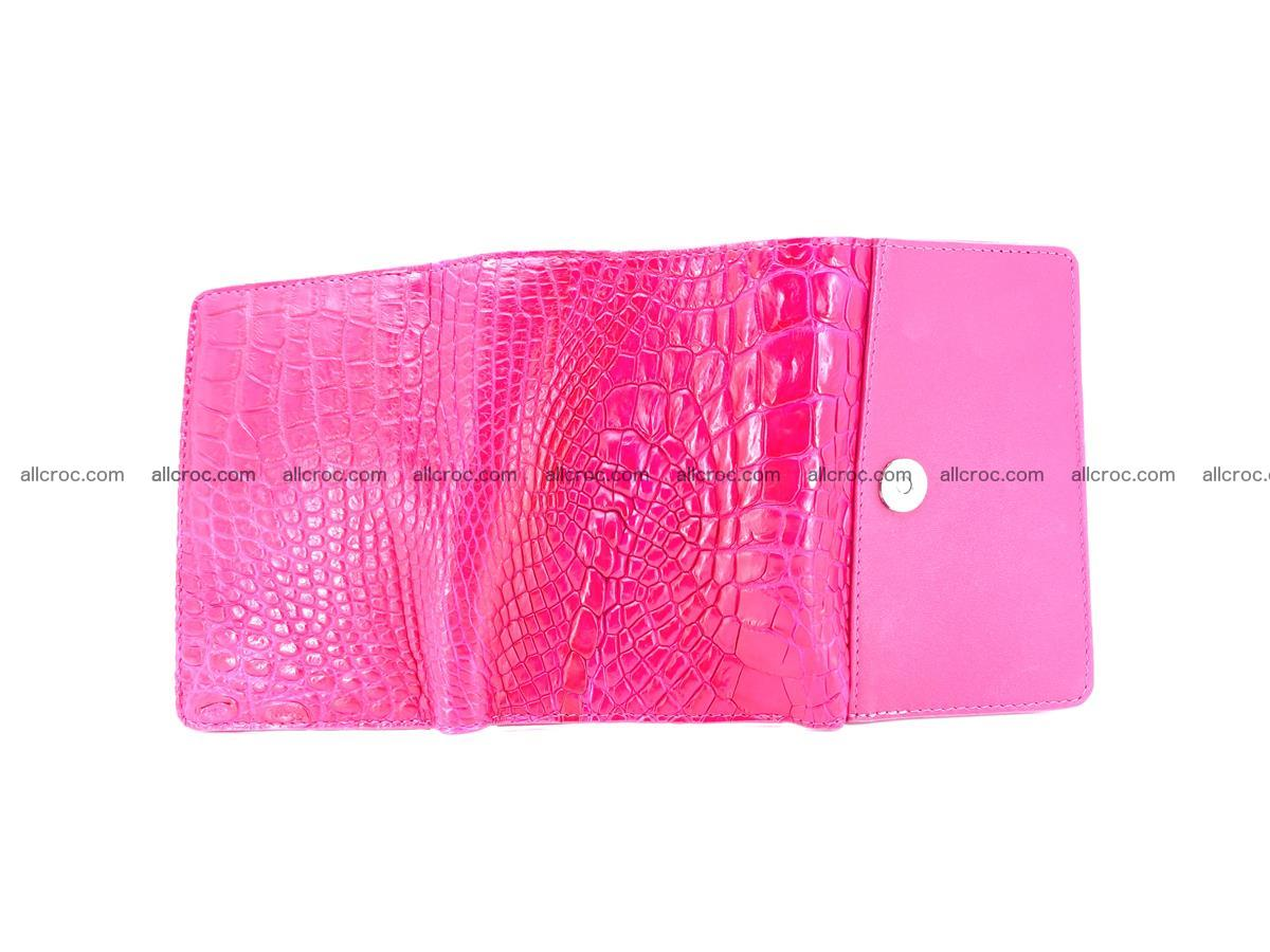 Genuine Siamese crocodile skin wallet for women 407 Foto 7