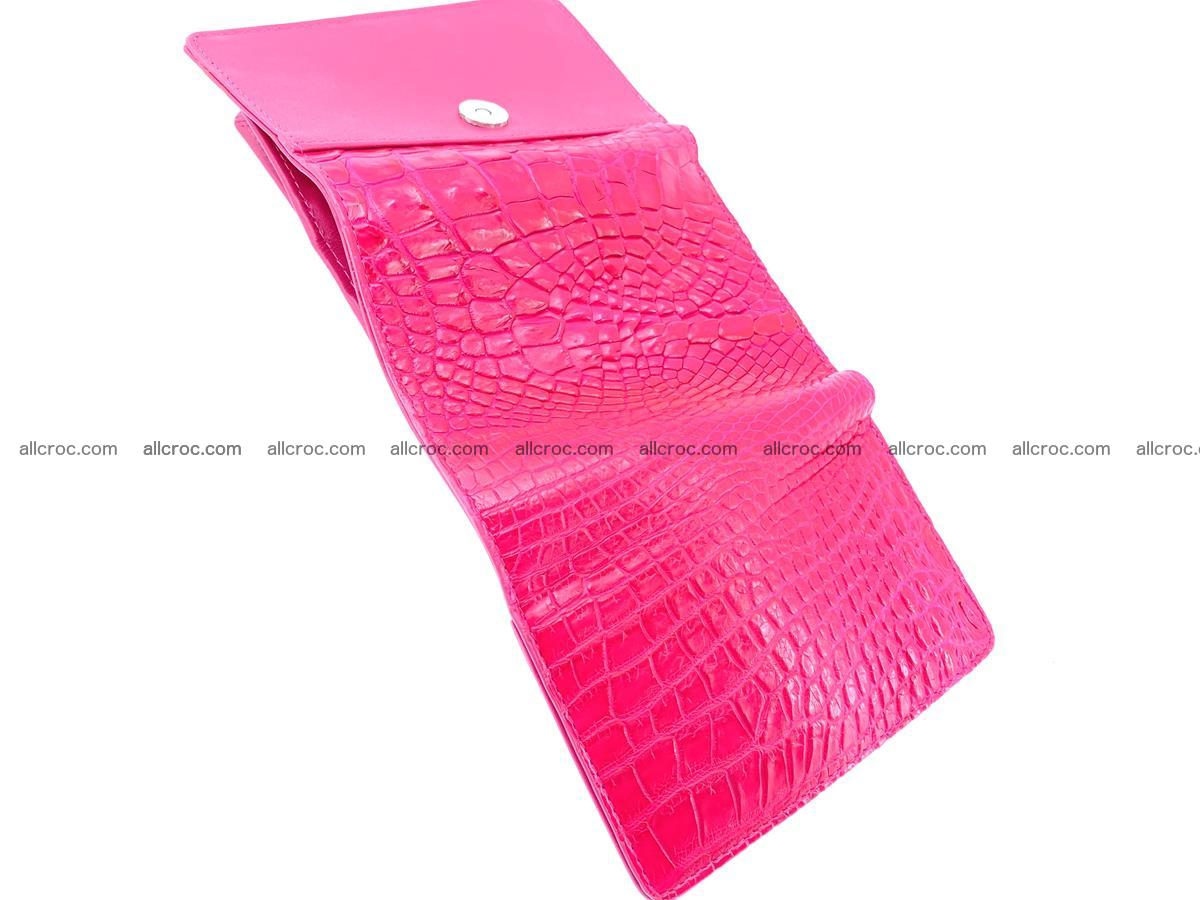Genuine Siamese crocodile skin wallet for women 407 Foto 6