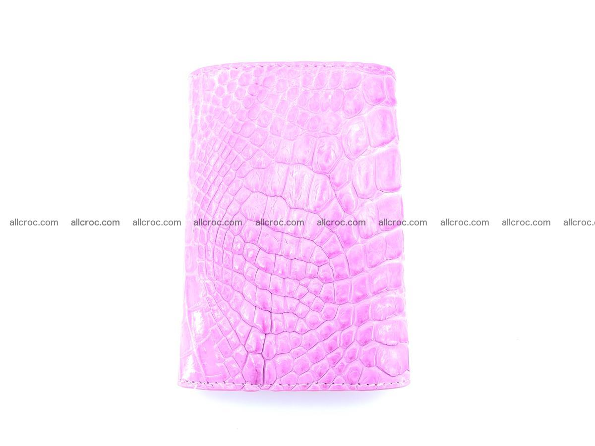 Genuine Siamese crocodile skin wallet for women 406 Foto 3