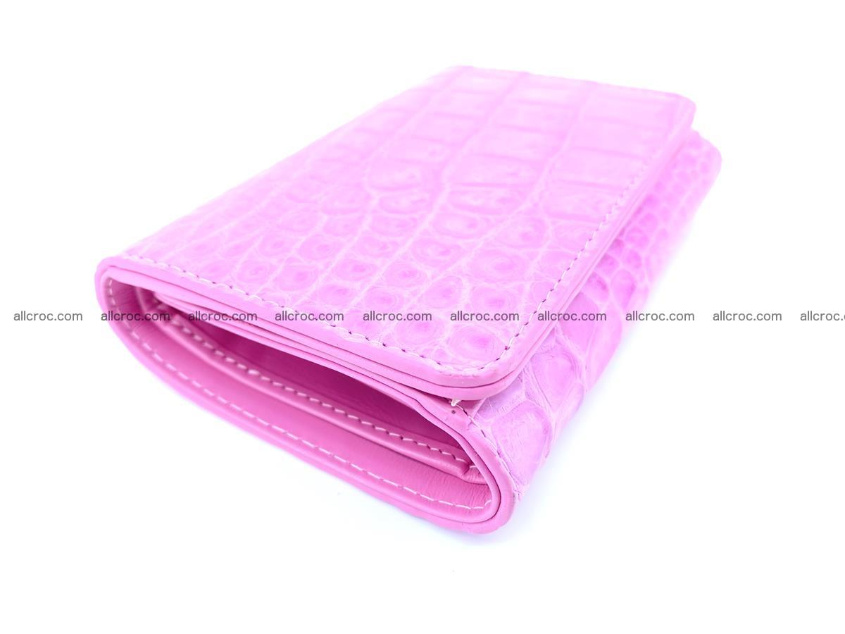 Genuine Siamese crocodile skin wallet for women 406 Foto 4