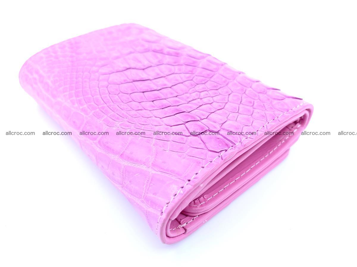 Genuine Siamese crocodile skin wallet for women 406 Foto 5