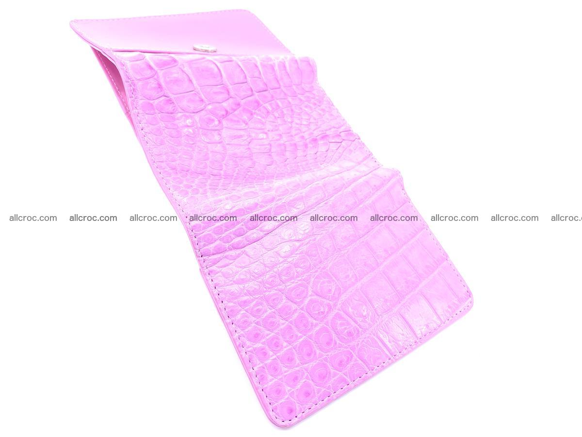 Genuine Siamese crocodile skin wallet for women 406 Foto 7