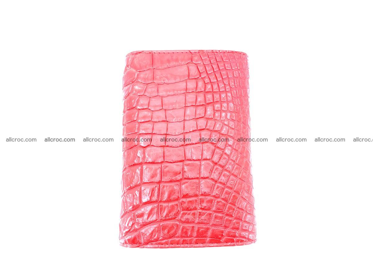 Genuine Siamese crocodile skin wallet for women 418 Foto 3