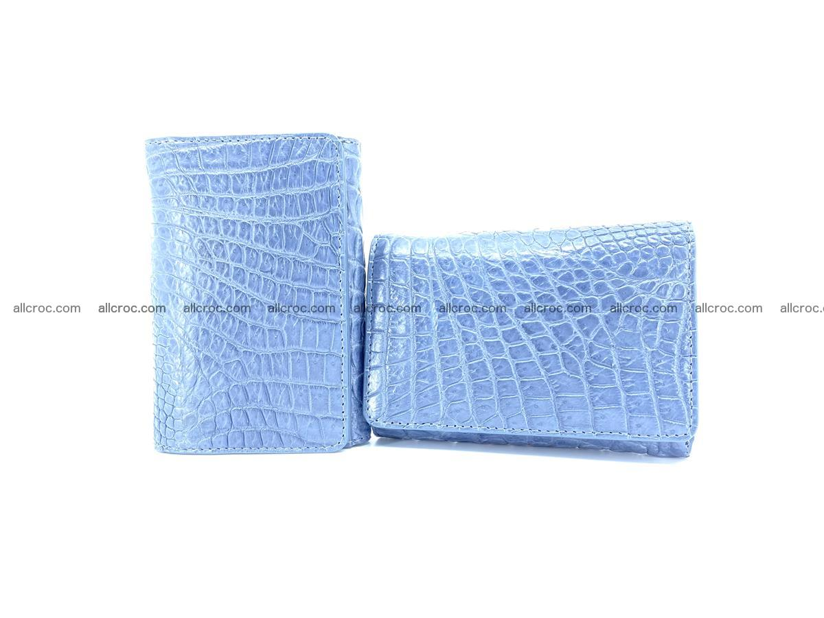 Genuine Siamese crocodile skin wallet for women 414 Foto 10