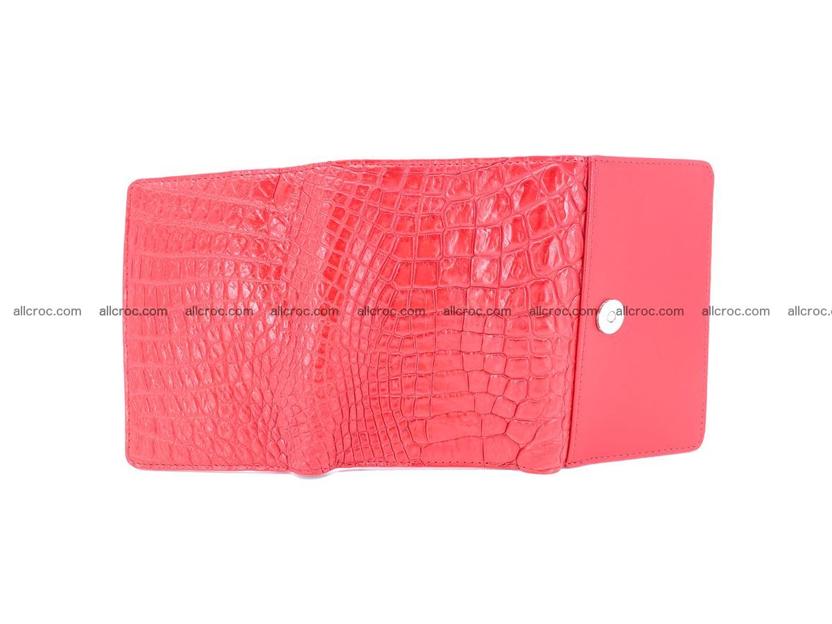 Genuine Siamese crocodile skin wallet for women 418 Foto 6